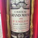 CHATEAU  GRAND MAYNE  1978