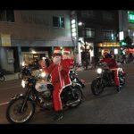サンタさんがバイクで・・・