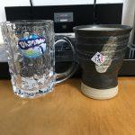 焼酎グラスとビールジョッキ